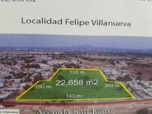 terreno en venta - 22,658 m2 en mexico